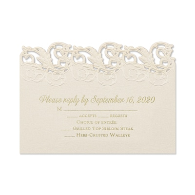 Charming Flourishes - Response Card and Envelope