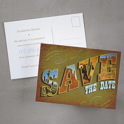 Cowboy Country Save the Date Postcard