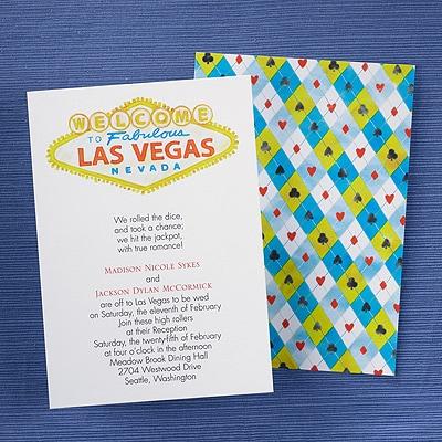 Vegas Watercolor Invitation