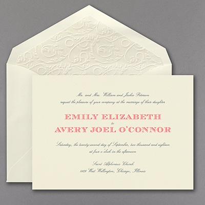 Sophisticated Typography - Invitation with Designer Liner