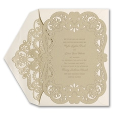 Fancy That - Invitation With Laser Liner