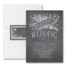 Chalkboard Celebration - Invitation