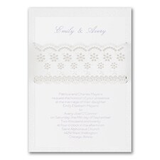 Elegant Wedding Invitations: Flower Fantasy
