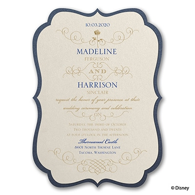 Luxurious Rose - Belle - Invitation