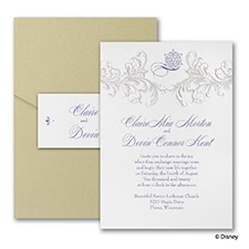Golden Fairy Tale - Disney Inspired - Invitation