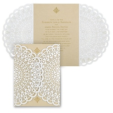 laser cut invitation: Vintage Lace
