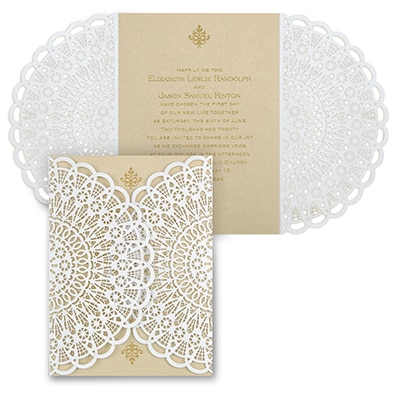 Vintage Lace - Invitation