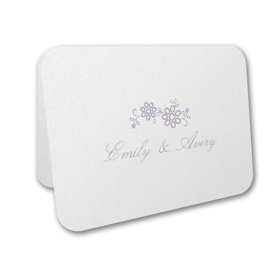 Flower Fantasy - Thank You Card and Envelope
