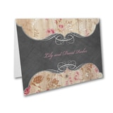 Wooden Roses - Thank You Card and Envelope