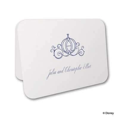 Royal Carriage - Cinderella - Thank You Card and Envelope