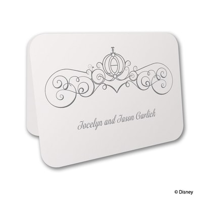 Enchanted - Cinderella - Thank You Card and Envelope