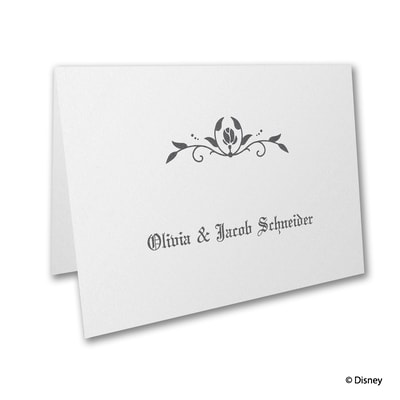 Roses and Romance - Sleeping Beauty - Thank You Card and Envelope