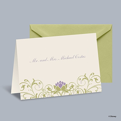 Water Lily - Tiana Informal Note with Verse and Envelope
