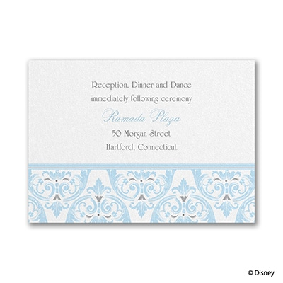 Happily Ever After - Cinderella - Reception Card