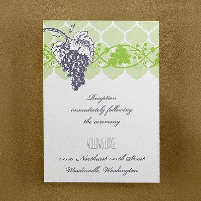 Glorious Grapevine Reception Card