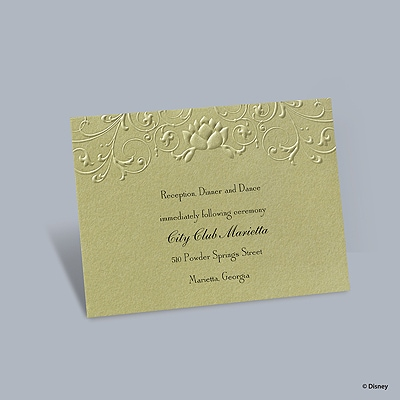 Water Lily - Tiana Reception Card