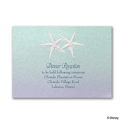 Mermaid Treasures - Ariel - Reception Card