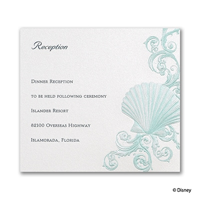 Beneath the Waves - Ariel - Reception Card