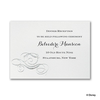 Fairy Tale Carriage - Reception Card