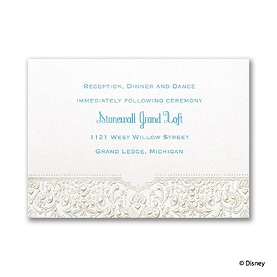 Bohemian Chic - Jasmine - Reception Card