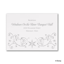 Winter's Beauty - Elsa - Reception Card