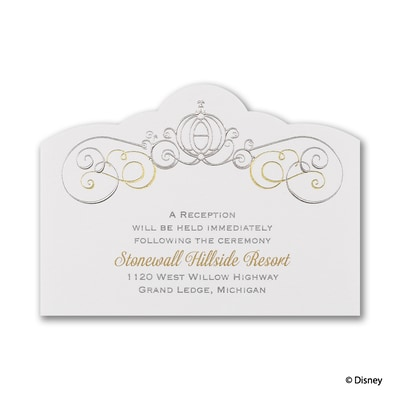 Enchanted - Cinderella - Reception Card