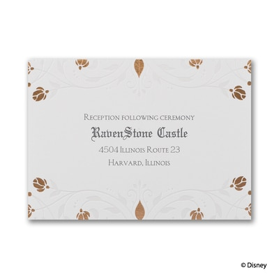 Roses and Romance - Sleeping Beauty - Reception Card