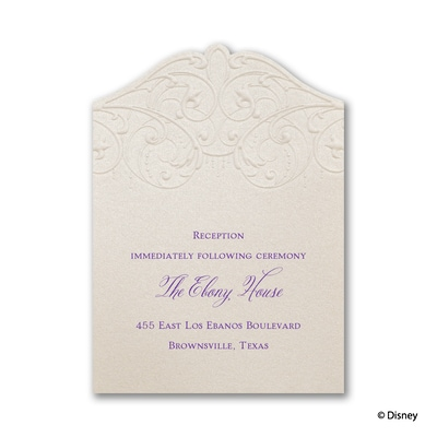 Beautiful Bayou - Tiana - Reception Card