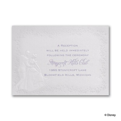 Destined for Love - Cinderella - Reception Card