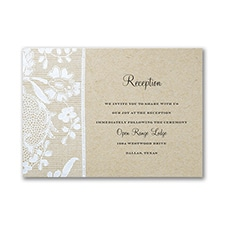 Homespun Bridal - Reception Card
