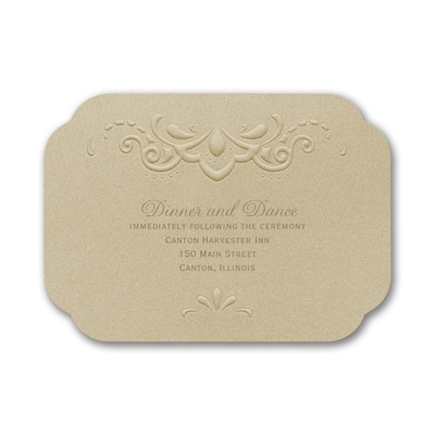 Fancy That - Reception Card