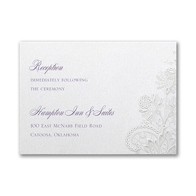 Lacy Shimmer - Reception Card
