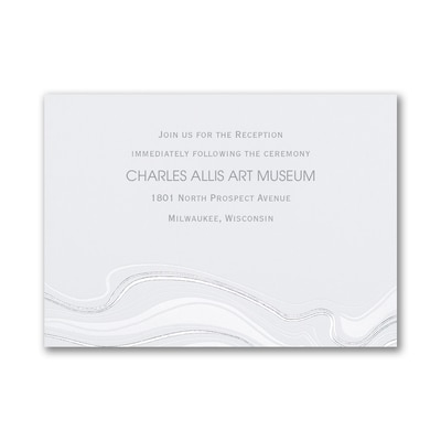 Topographic Marble - Reception Card