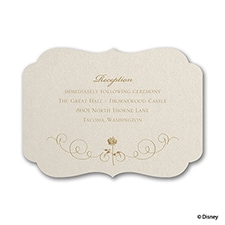 Luxurious Rose - Belle - Reception Card