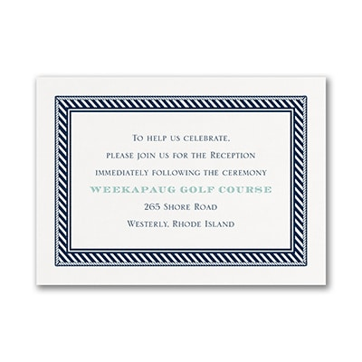 Nautical Romance - Reception Card