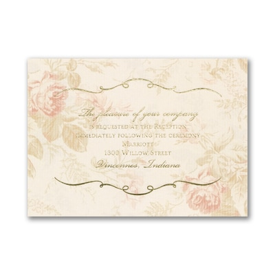 Wrapped Up in Vintage - Reception Card