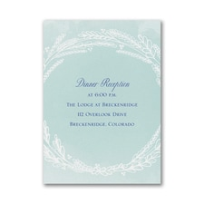 Whimsical Wreath - Reception Card