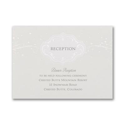 Winter Wonderland - Reception Card