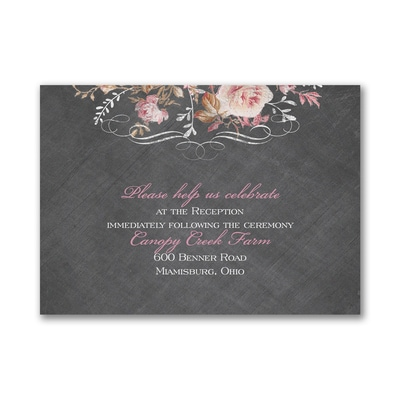 Wooden Roses - Reception Card