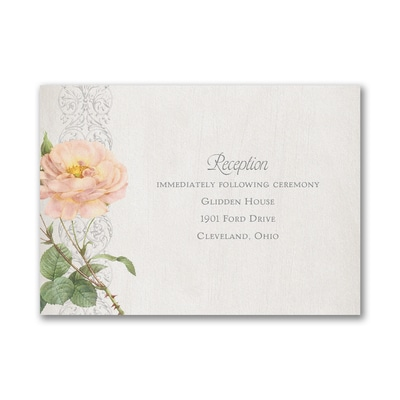 Elegant Roses - Reception Card