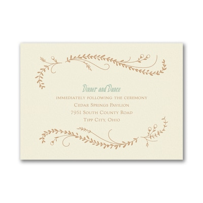 Frame of Vines - Reception Card - Ecru