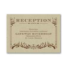 Vintage Ticket - Reception Card