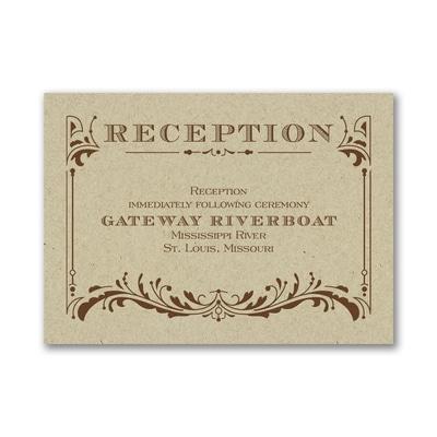 Vintage Ticket - Reception Card