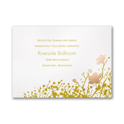 Botanical Garden - Reception Card