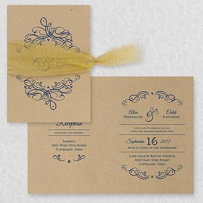 Galleria invitation kraft option 2 wedding invitations galleria invitation kraft option 2 stopboris Image collections
