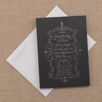 French Filigree Invitation Wedding Invitations Carlson Craft