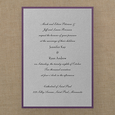 Classic Creation - Invitation - Silver Shimmer