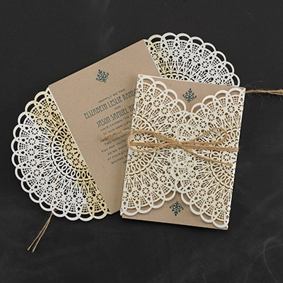 Country Lace - Invitation