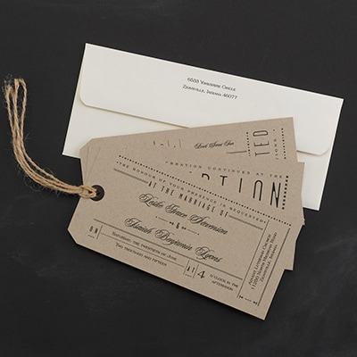 Typography Tags - Invitation Assembled