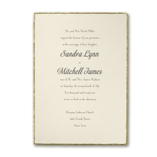 Wedding Invitation: Deckled in Gold